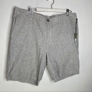 Linen Flat Front Short sz 40